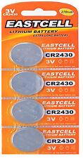 4 x CR2430 3V Lithium Batterie 270 mAh ( 1 Blistercard a 4 Batterien  EASTCELL