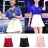 XS-XL Women Tennis High Waist Mini Skirt Plain Flared Pleated Short Kilt Lover