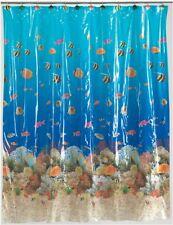 Carnation Home Fashions Vinyl Print Shower Curtain