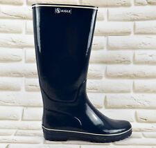Aigle Venise Wellies Wellington Boots Marine Blanc Shoes Size 3.5 UK 36 EU