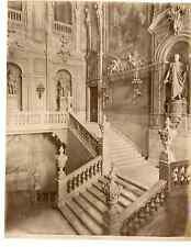 Italie, Torino, Palazzo Reale, scala d'onore  Vintage albumen print Tirag
