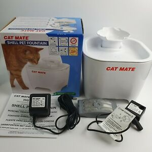 Cat Mate - Shell Pet Fountain White 3 Litres For Cats & Small Dogs Lightly Used