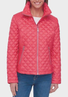 Marc New York Ladies' Quilted Jacket Coral SZ LG NWT