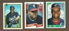 New listing 1990 Frank Thomas Chicago White Sox Rookie Card Lot (3)