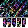 4*100cm Holographic Nail Foil Laser Geometric   Transfer Sticker
