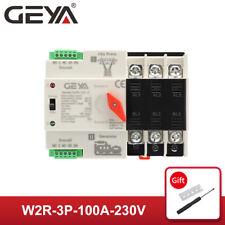 Geya Automatic Transfer Switch Grid to Alternator 3P 63A 100A 220V Dual Power