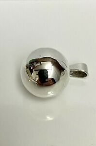 Vintage Mexican Sterling Silver Harmony Bell Ball Chime Pendant