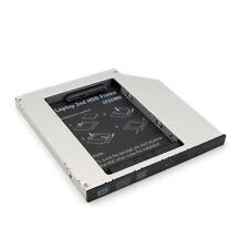 """9.5mm Aluminum SATA-III 2nd 2.5"""" SSD HDD Hard Drive Caddy Adapter Tray Enclosure"""