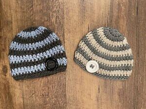 Baby Hat / Hand Knit Beanie (0-3 Months)