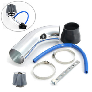 "Silver Alloy 3"" Air Intake Pipe Kit +Cold Air Intake Filter+ Clamp +Accessories"