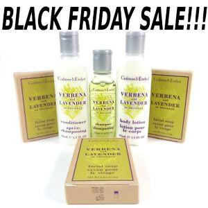 Crabtree & Evelyn Travel Toiletries 6 Piece Set~ Verbena & Lavender Black Friday