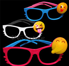 12 PCS LED Emoji Glasses Light Up Shades Flashing Rave Wear Party Favors Bags