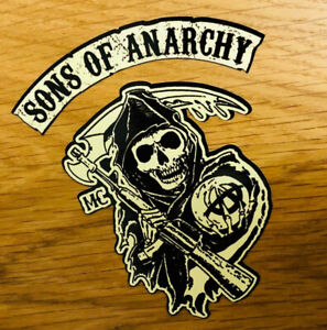 Sons Of Anarchy Sticker Redwood Biker Mc V8 Soa Skull 1% Chopper Mi330