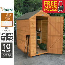 Forest 6x4 Windowless Dip Treated Apex Garden Tool Shed Storage Free Padlock