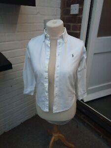 Polo Ralph Lauren Ladies Heavy Cotton White Shirt Size 12