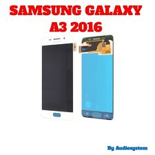 DISPLAY+ TOUCH SCREEN ORIGINALE SAMSUNG GALAXY A3 2016 SM-A310F BIANCO SCHERMO
