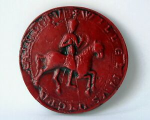 King William II Rufus Wax Great Seal Red Medieval Reproduction Collectable Gift