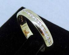 Diamond Eternity Not Enhanced Yellow Gold Fine Rings