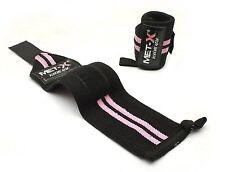 Met-x rose femme haltérophilie gym poignet supports, bracelets fitness gants