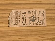 1972 Pittsburgh Pirates v Dodgers Baseball Ticket 8/27 Roberto Clemente 2 Hits