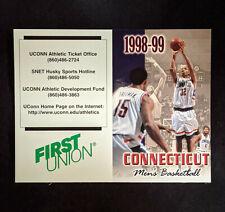 1998-99 University of Connecticut Men's Basketball Schedule  - Richard Hamilton