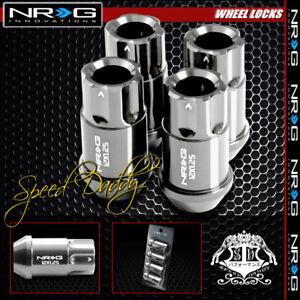 "FOR SUBARU IMPREZA/NISSAN 240SX CHROME 4 X NRG M12X1.25 1.75""L LUG NUT LOCK"