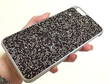 Purple Silver Rock Made with Swarovski Crystals Bling Glitter Case Skin iPhone 7