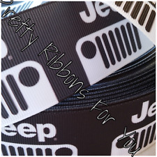 """Jeep 1.5"""" wide grosgrain ribbon the listing is for 5 yards"""