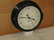 """Chelsea Ships/Military Clock~Air Force~8 1/2"""" Dial~Missile Silo?~1963~24 Hr Dial"""
