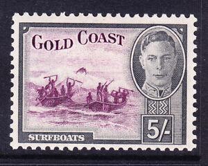 GOLD COAST George VI 1948 SG145 5/- purple & black - mounted mint. Catalogue £45