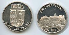 M039 - Silbermedaille 1977 Stadt Günzburg 1900 Jahre Guntia Silber
