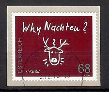 """3242 Österreich 2015   """" Why Nachten """"  68 cent  sk   o , gestempelt"""