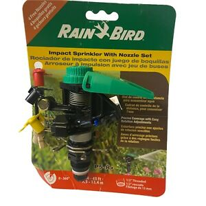 Rain Bird P5-R + Plus Plastic Impact Sprinkler With Nozzle Set Lawn Grass