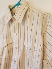 Panhandle Slim Size 16-34 Off White Pearl Snap Western Rodeo Shirt Made In USA