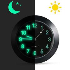 Luminous Car Dashboard Air Vent Stick On Time Clock Quartz Analog Watch 4.3*1cm