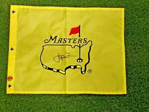 PGA Jordan Spieth Signed Autographed Masters Golf Flag COA Under Armour