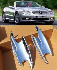 DELUXE x2 CHROME Door Handle Bucket Covers Mercedes R230 C215 C209 SL SLK CL