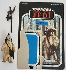 Vintage Kenner Star Wars Logray Ewok figure with ROTJ backer card Complete