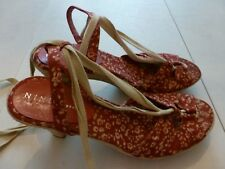 Nine & Co. Lace-Up Open Toe High Heels. 8.5 US size. In very good condition.