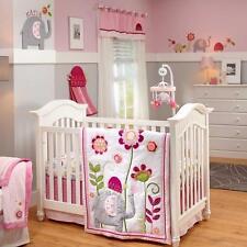 Little Bedding By NoJo Jumbo Joy Elephant Turtle 4pc Baby Girl Crib Set Newborn