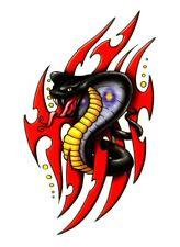 Temporary Tattoo, Einmal Tattoo, BTB-6, drohende Schlange