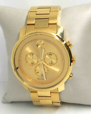 MOVADO BOLD CHAMPAIGNE DIAL YELLOW GOLD ION-PLATED MEN'S WATCH 3600278