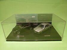 MINICHAMPS BMW 635 CSi + BMW 645 COUPE - BLACK + SILVER  1:43 - EXCELLENT IN BOX
