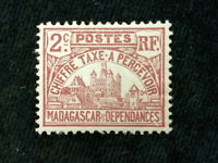 Madagaskar, Portomarken 1908 - MiNr. 8 Regierungsgebäude in Tananarivo. 2 C