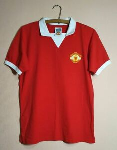 1973 Manchester United GEORGE BEST #7 Score Draw Shirt Polo Jersey RETRO Size M