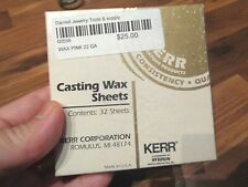 New listing Kerr Casting wax sheets (32) Made in Usa Pink 22 Gage (0.64 mm) For Dentists
