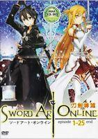 ANIME DVD Sword Art Online Vol. 1 - 25 End Complete TV Series + Bonus Anime