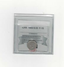 **1889**, Coin Mart Graded Canadian,  5 Cent **F-15**