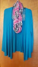 Self Esteem Long Sleeve L Cover Up w/ Scarf