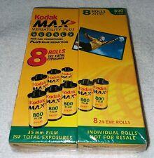 New Listing8 Rolls Kodak Max Iso 800 24 Exposure 35mm Color Film - Expired 9/2004